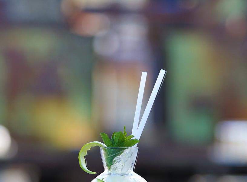 Arak Frappe Cocktail in Spherical glass