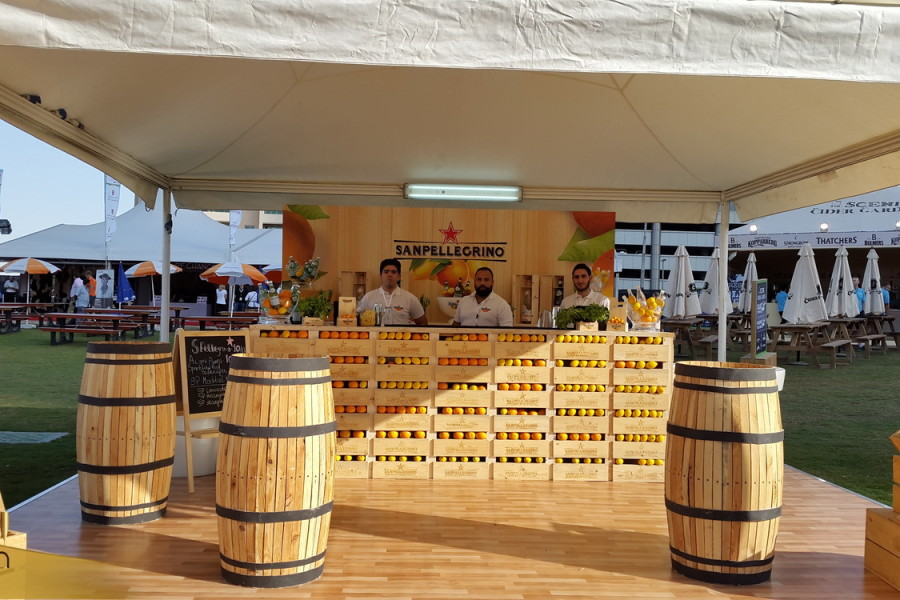 Wood Mobile Bar rental