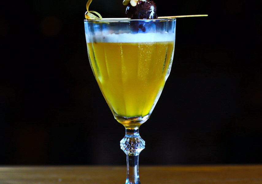 Summertime Passion fruit and prosecco cocktail