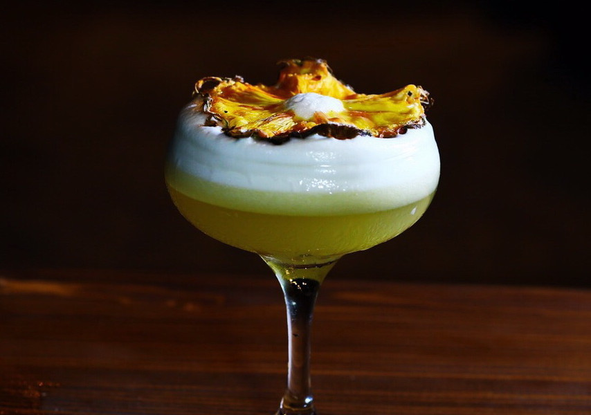 Tequila Pineapple Sour cocktail