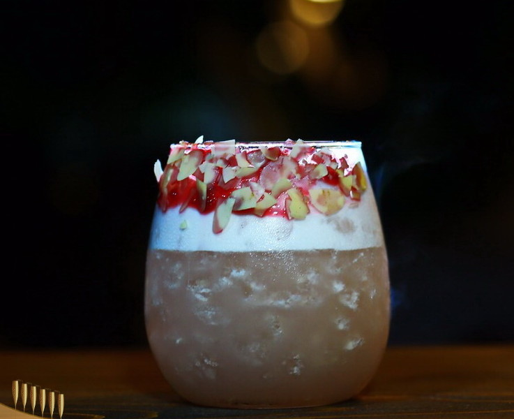 Vodka Raspberry Sour cocktail