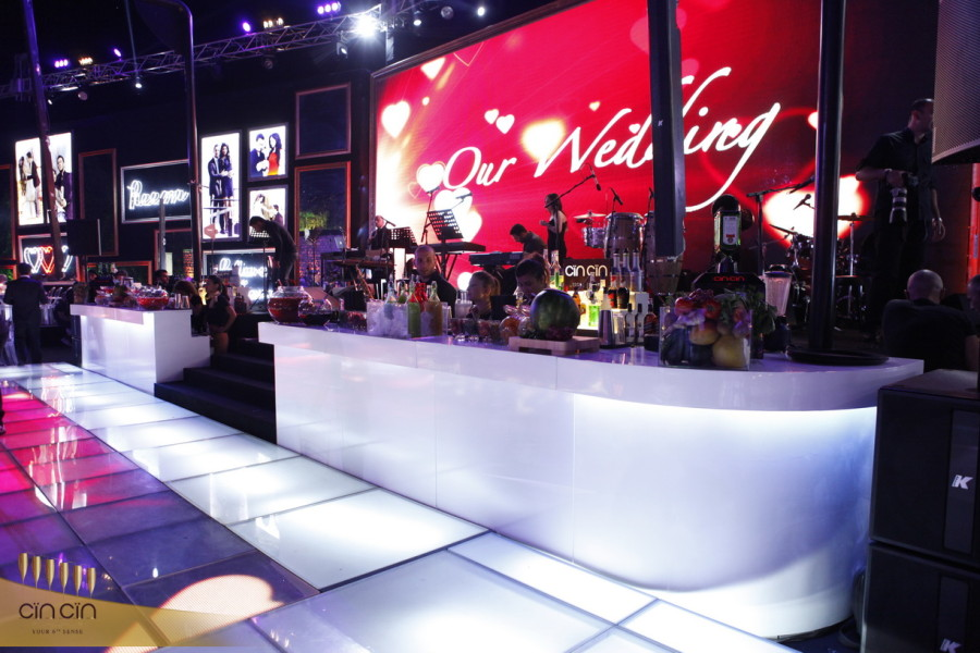 White Mobile Bar rental