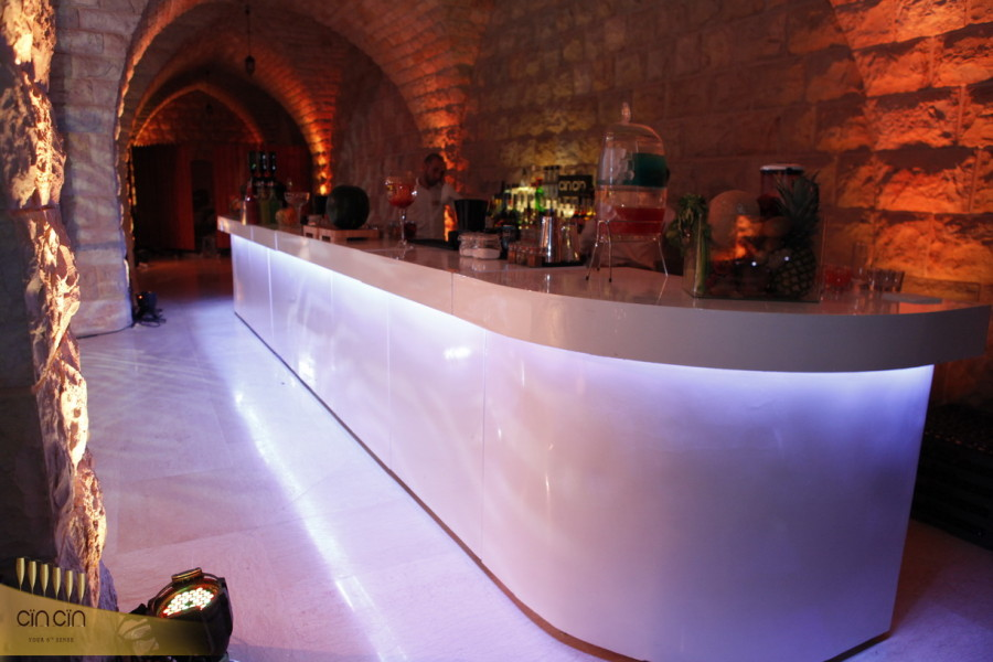 white Mobile Bar rental