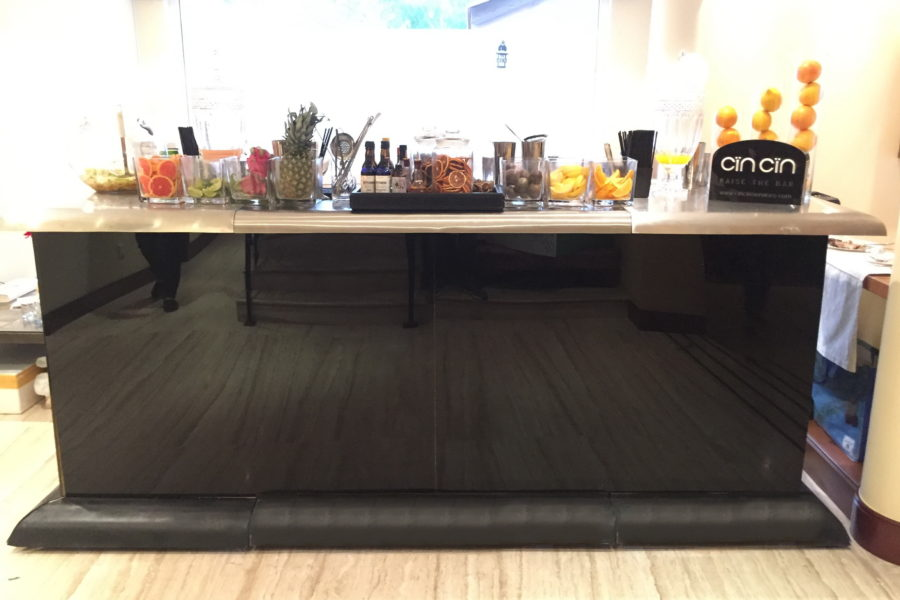 Black stainless top UAE Bar Rental